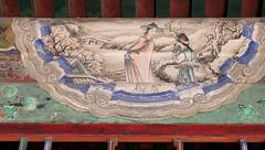 Winter Scene (█ Slices of Light █▀ ▀ ▀) Tags: painted painting chinese beams 長廊 long corridor 长廊 cháng láng interior yiheyuan 頤和園 summer palace beijing 北京 中國 china 中国 sony rx1rm2