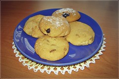 something sweet for saturday :) (green_lover) Tags: cookies sweets food smileonsaturday madebyme plate blue five