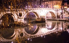 Ponte Sisto - Roma (Bouhsina Photography) Tags: tibre rome italie bouhsina bouhsinaphotography canon 5diii longue exposition couleur 2018 reflection architecture ancien composition branches arbre