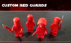 Custom Guards Available! Pad Printed, Custom Moulded Helmet and Vibro-Arbir Blade... (Erik Petnehazi) Tags: lego star wars episode 8 viii last jedi custom praetorian guards pad printed moulded helmets 2 variation vibro arbir vibroarbir blade fron torso back hip legs toys