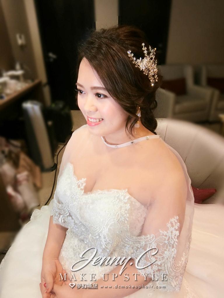 【新秘蓁妮】bride倩如 結婚造型 / 台北六福萬怡酒店