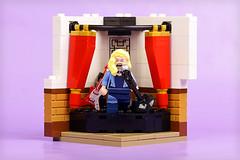 Black Canary sings (Frost Bricks) Tags: lego black canary minifigure habitat singing stage moc