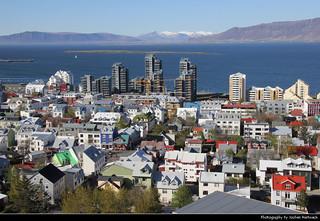 View from Hallgrímskirkja, Reykjavik, Iceland