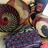 Gifts from Kigali (Rachel Strohm) Tags: africa rwanda kigali africanart weaving baskets kitenge pagne waxprint africanfabric