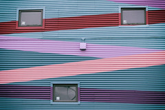 triangulated windows (annapolis_rose) Tags: vancouver eastvan mural windows colors