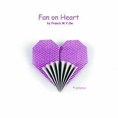 origami heart & fan (polelena24) Tags: origami heart valentine fan francisow onesheet square