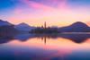 Magical Bled (Dejan Hudoletnjak) Tags: lakebled bled slovenia landscape sunrise colorful