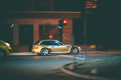 Night Driving (Burak Kebapci) Tags: z3 bmw z3m bmwz3mcoupe mcoupe coupe bmwclassic z3coupe sportscar road street pan panning drive streetphotography urban night lights nightimage image canon istanbul city tr turkey traffic car