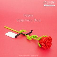 nanoblock Valentine's Day Gift (inanoblock) Tags: nanoblock nanoblocks ナノブロック bricks blocks build building kawada lego valentine rose flower valentinesday gift present