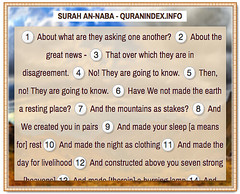Browse, Read, Listen, Download and Share #Surah An-Naba [78] @ https://quranindex.info/surah/an-naba #Quran #Islam (Quranindex.info) Tags: islam quran reciters surahs topics verses