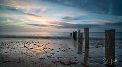 2017 - 12-28 - Landscape - Moana - Sunset 06.jpg (stevenlazar) Tags: pylons beach ocean sunset australia colour water moana waves jettyruins adelaide 2017 southaustralia clouds