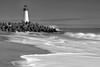 Walton Lighthouse (Laura Macky) Tags: lighthouse ocean landscape seascape blackandwhite bw monochrome santacruz