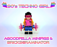 90s Techno Girl [AMB@R] (agoodfella minifigs) Tags: legomarvel lego legoxmen xmen jubilee minifigures customminifigures