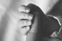 (Elisaa.) Tags: little fingerprint micro detail blackandwhite newborn finger baby
