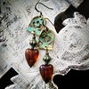 Patina heart earrings (lilruby) Tags: earrings verdigrispatina lilrubyjewelry hearts valentinesday