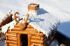 The gingerbread log cabin (III) (dididumm) Tags: gingerbreadlogcabin christmas winter snow baking homemade selbstgemacht backen gebäck schnee weihnachten lebkuchenblockhaus lebkuchenblockhütte lebkuchen