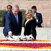 PM Netanyahu and his wife sara visit Gandhi's grave