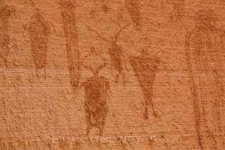 Alcove Panel of Barrier Canyon Style Pictographs in Horseshoe Canyon