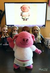 Piggy and Lambie 豬仔羊妹 (Mingle Doll 鳴娃娃) Tags: crochet crochetdoll amigurumi piggieandlambie 豬仔羊妹 crochetamigurumi crochetpig