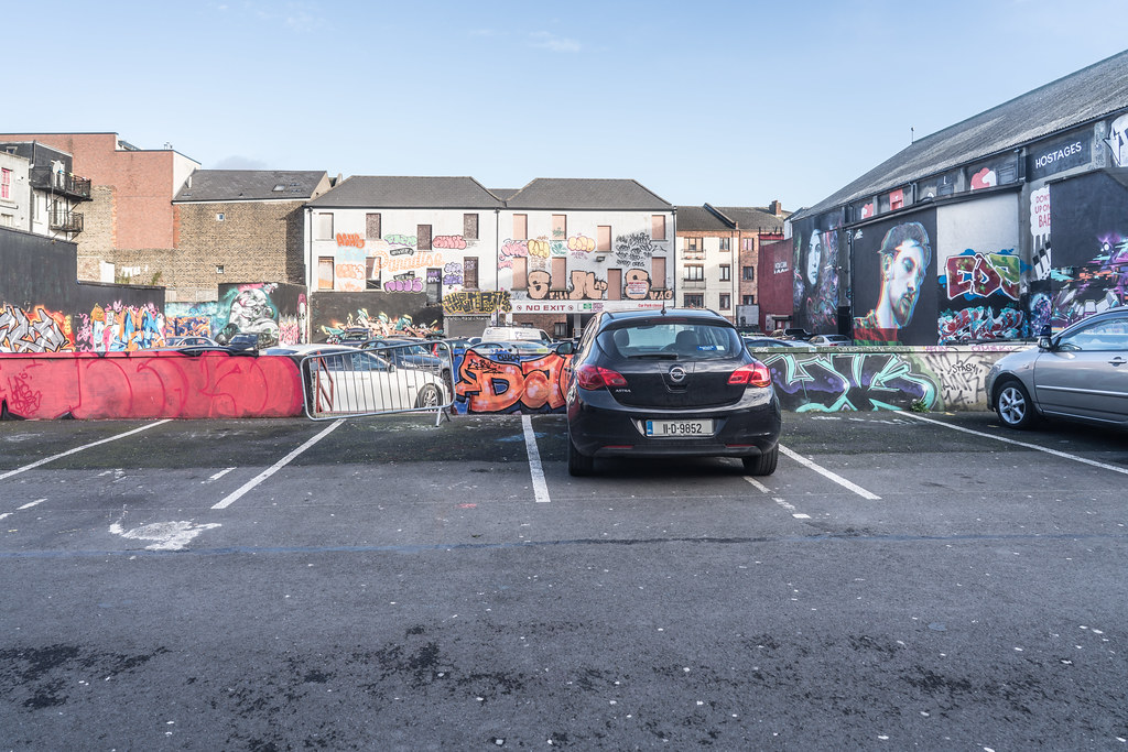 STREET ART AT THE TIVOLI CAR PARK IN DUBLIN [LAST CHANCE BEFORE THE SITE IS REDEVELOPED]-135639