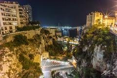 Not Looking Down (Tim van Zundert) Tags: cliff frenchriviera cotedazur monaco montecarlo landscape city cityscape night evening longexposure sony a7r voigtlander 21mm ultron
