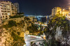 Not Looking Down (Tim van Zundert) Tags: cliff frenchriviera cotedazur monaco montecarlo landscape city cityscape night evening longexposure sony a7r voigtlander 21mm ultron