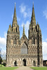 Lichfield Cathedral 22/10/2017 (Gary S. Crutchley) Tags: lichfield cathedral gothic st chad virgin mary city uk great britain england united kingdom nikon d800 raw