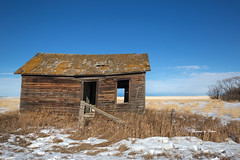 Little House on the prairie! (Canon Queen Rocks (1,980,000 + views)) Tags: house structure abandoned farm farmland farming fence landscape landscapes bluesky prairies alberta canada timber fields sky scenery scenic snow winter momentsbycelinecom