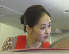 Asiana Lass  -  IMG_20180122_182758 (mshnaya ☺) Tags: korean lovely lass girl woman women pretty face beauty portrait airline attendant asiana genre work uniform 韩姐 gorgeous hot flight 美 丽 佳 人 jolie fille schoene bela belle
