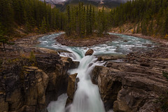 Sunwapta Fall (tvrdypavel) Tags: alberta beauty canada canadian cascade clouds energy environment fall flow flowing forest green jasper landscape mountains national nature park river rockies rocky scenery spectacular sunwapta tourism travel water waterfall white wildlife