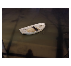 The waters of the Seine — Lifeboat (michelle@c) Tags: seine fleuve river riverside crue inondation flood boat shadow me night quay 2018 parisxiii michellecourteau