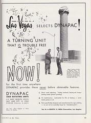 Vintage DYNAPAC Ad Featuring YESCO designer Ray Larsen and the Flamingo Capri MOTEL in Las Vegas - 1960 (hmdavid) Tags: vintage ad advertisement signsofthetimes magazine raylarsen designer yesco flamingo capri motel lasvegas nevada 1960s midcentury roadside advertising neon bird dynapac