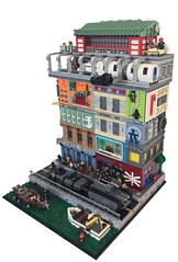 Japan 2089 (Forgotten Days) Tags: lego moc japan japanese cyberpunk 2089 train tanks military