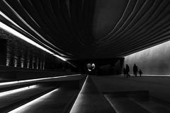 Sharing an experience / Interior (Özgür Gürgey) Tags: 2018 20mm bw büyükçekmece d750 nikon sancaklarcamii voigtländer architecture inds light lines lowangle people silhouettes istanbul