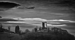 La vieja torre/ The old tower (Jose Antonio. 62) Tags: spain españa asturias castillo castle torre tower bw blancoynegro blackandwhite nubes clouds peñedures morcín