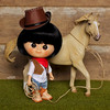 Let's go for a ride? (Passion for Blythe) Tags: minimuichan cowgirl ixtee ixdoll horse ride tiny cute doll