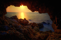 Sea cave sunset (Stan Smucker) Tags: cave