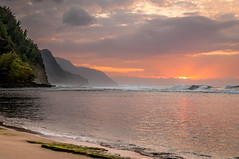 20140201-_DSC5419 (bfluegie) Tags: hawaii kauai keebeach beach ocean sunset water d90 nikond90