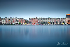 Rotterdam Reflections (Alec Lux) Tags: rotterdam andscape architecture atmosphere bluehour building canal city cityscape colorful colors holland houses landscapephotography lights longexposure netherlands reflection river skyline structure symmetry urban water