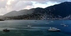 Charlotte Amalie, St. Thomas Harbor (Gail Frederick) Tags: stthomas water harbour clouds caribbean
