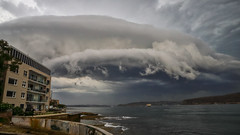 Touched by the hand of a god (geemuses) Tags: sydneyharbour manly newsouthwales nsw storm stromfront thunderstorm god ferry ferries ships boats po pacificdawn canon canon6dmkii 2470mmf28lens clouds sky landscape nature water sea ocean manlyferry