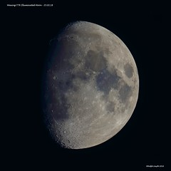 Waxing 77% Illuminated Moon (Ralph Smyth) Tags: moon 760d canon
