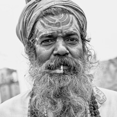 India (ubuc - away for a while) Tags: people portrait man pilgrim outdoor travel ubuc bw nikkor2470mm nikond800 kumbhmela allahabad uttarpradesh india