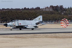 Japan Air Self Defence Force, McDonnell Douglas F-4EJ Kai Phantom II, 67-8390. (M. Leith Photography) Tags: mark leith photography japan japanese self air defence force jasdf mcdonnell douglas phantom f4 ibaraki hyakuri sunshine base fighter nikon d7000 d7200 70200vrii 300mmf4 nikkor asia flying military sky building airplane cockpit aircraft jet road tree grass
