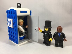 2018-050 - Presidents Day (Steve Schar) Tags: 2018 wisconsin sunprairie iphone iphone6s project365 lego minifigure trump obama lincoln presidentsday portapotty