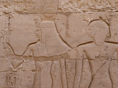 Ramesses with Goddess, Karnak (Aidan McRae Thomson) Tags: karnak temple luxor egypt relief carving ancient egyptian