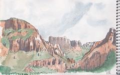 Big Bend National Park (Panzón) Tags: bigbend casagrande watercolor sketch sketchbook
