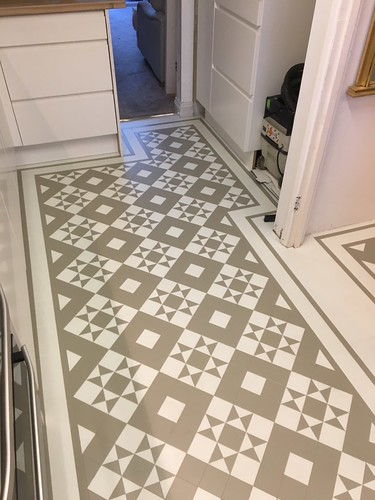Amtico decor fitted to a kitchen