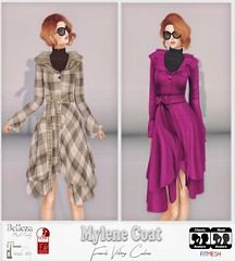 Mylene Coat - French Vintage Couture (elhan.resident) Tags: addict avatar belleza evening retro rockabilly robe frenchvintagecouture french dress trendy transparent top style styleandaddict yeye sexy bodymesh vintage fiftedmesh mode couture colors women color woman cocktail pastel photographer secondlife sl slfashion slmode slclothes slink designers designer designs fashion fashionista fashionistas hautecouture mesh maitreya clothes clothe classic bloggers blog portrait tonic coat winter