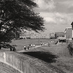 University Plaza by the Cloyd Student Union and DH Hill Library in 1963.